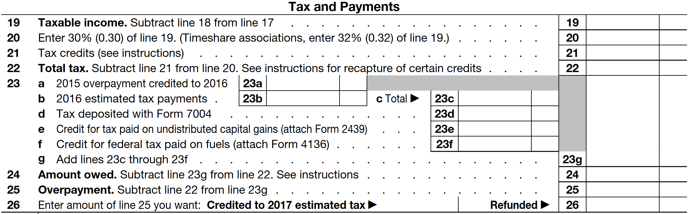 Form 1120-H Example: Complete in a Few Simple Steps »