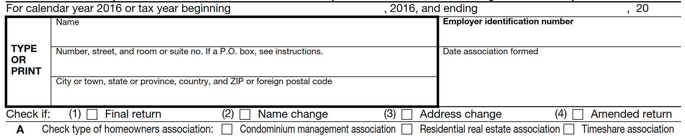 form 1120 h example